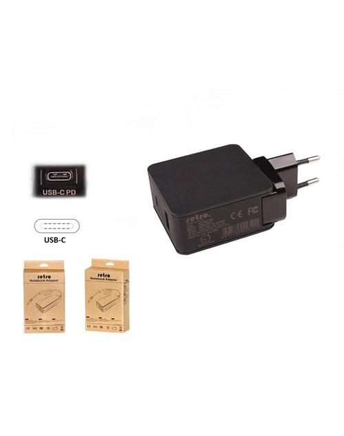 RETRO 30W USB-C PD + 12W USB Adaptör RNA-UTC42
