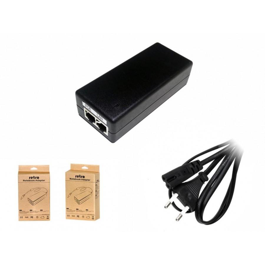 RETRO 48V 1A 48W Gigabit POE Adaptör + Injector