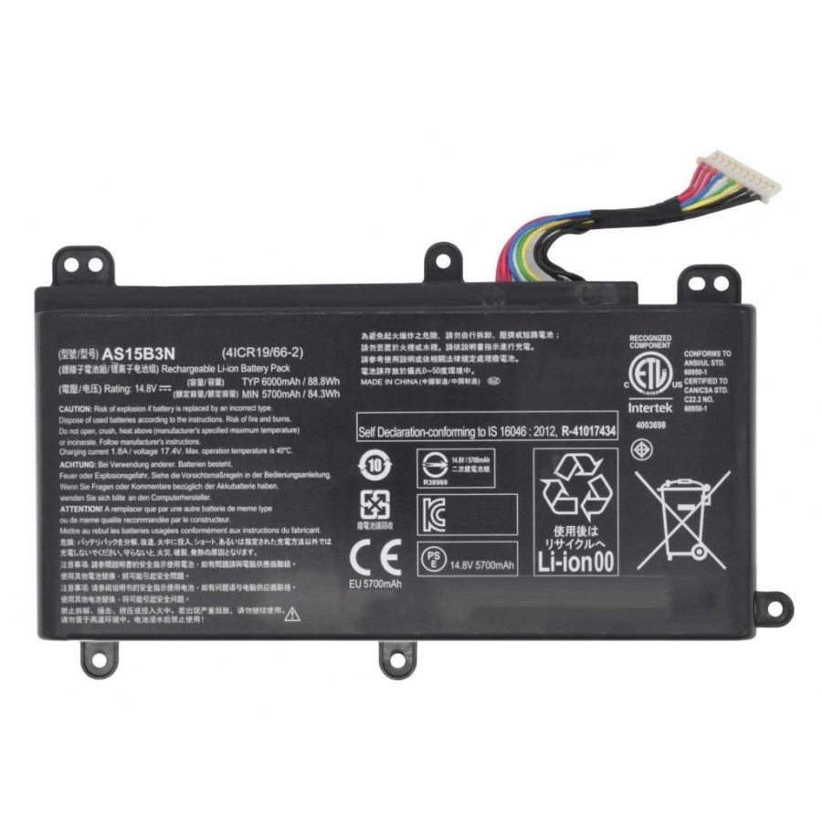 RETRO Acer Predator G9-591, G9-791, AS15B3N Notebook Bataryası