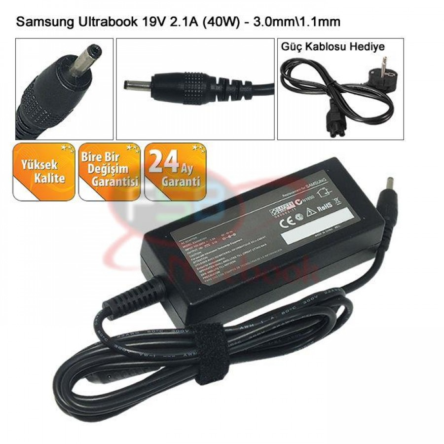 Oem Samsung AD-4019P Ultrabook Adaptör (MUADİL 19V 2.37A 45W)